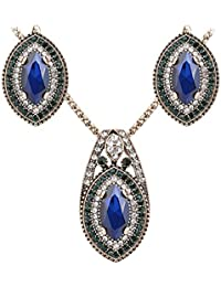 Shining Diva Fashion Jewelry Stylish Fancy Party Wear Chain Pendant Necklace For Women Traditional Jewellery Set...