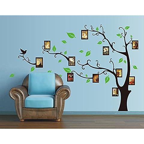ufengke® Grande Immagine Creativa Albero Photo Frame Adesivi Murali, Camera da Letto Soggiorno Adesivi da Parete Removibili/Stickers Murali/Decorazione Murale, Rivolto a Sinistra, il Nero