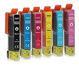 6 Druckerpatronen kompatibel zu Epson 24-XL T2438 (1x Schwarz, 1x Cyan, 1x Magenta, 1x Gelb, 1x Light Cyan, 1x Light Magenta) passend für Epson Expression Photo XP-55 XP-750 XP-760 XP-850 XP-860 XP-950 XP-960