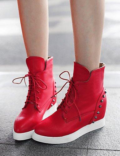 ShangYi Mode Frauen Schuhe Damenschuhe Keilabsatz Wedges/Fashion Stiefel/Schuhe Stiefel/Casual Kleid Schwarz/Rot/Weiß Rot