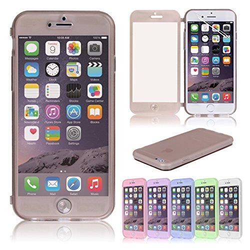 Topgadgetsuk Étui à rabat Crystal Coque en silicone souple pour iPhone 611,9cm Film protecteur d'écran inclus