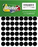 288 Klebepunkte, 20 mm, schwarz, aus PVC Folie, wetterfest, Markierungspunkte Kreise Punkte Aufkleber