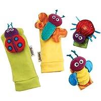 Lamaze Garden Bug Wrist Rattle & Foot Finder Set Infant, Baby, Child