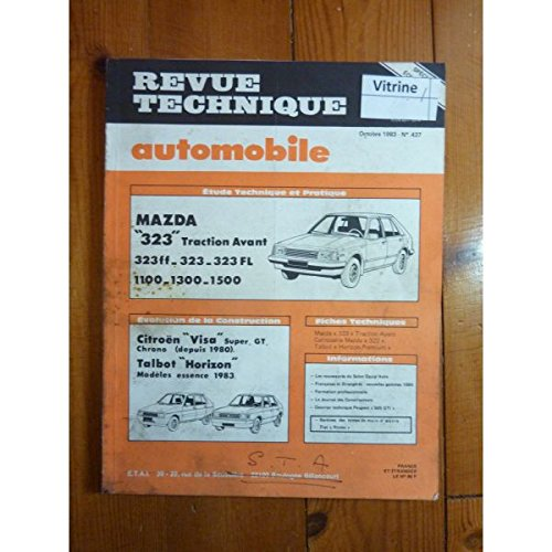 RTA0437 - REVUE TECHNIQUE AUTOMOBILE MAZDA 323 Traction Avant FF-FL 1100-1300-1500