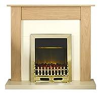 Adam Southwold Fireplace Suite with Blenheim Electric Fire, 2000 Watt, Unfinished Oak