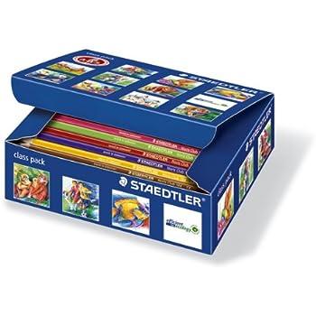 Staedtler crayons de couleurs Noris Club, formule ABS anti-casse, norme CE EN71, bois certifié PEFC, class pack de 144 crayons de 12 couleurs assorties, 144 C144
