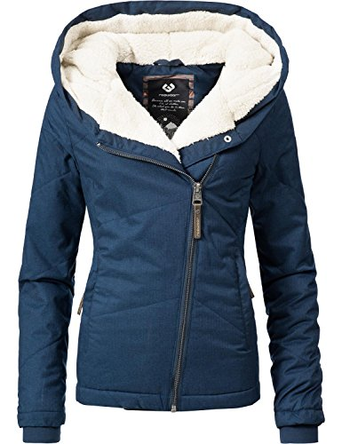 Ragwear Damen Jacke Winterjacke YM-Gordon Blau Gr. L