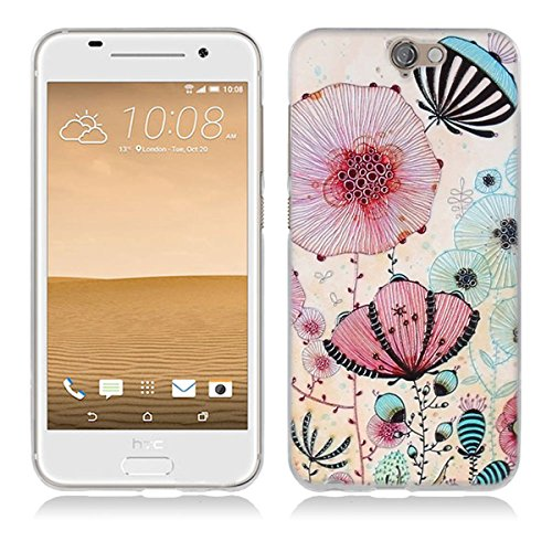 HTC One A9 Hülle, HTC A9 Hülle, Gift_Source [ Lotus ] Hülle Case Transparent Weiche Silikon Schutzhülle Handyhülle Schutzhülle Durchsichtig TPU Crystal Clear Case Backcover Bumper Case für HTC One A9 (Htc-source-fällen)