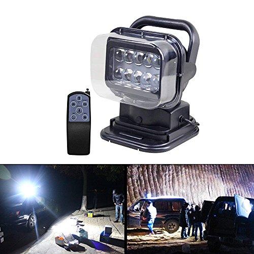LED faro radio remote, Luce di lavoro , con base magnetica , CREE chip , resistente alle intemperie, girevole a 360° ;gradi, per Auto offroad, caccia, barca, giardino, 50 W DC 12 V