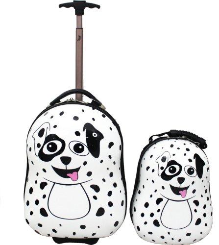 """Kinder-Trolley-Set """"Dino"""" (Trolley und Kinder-Rucksack) Dalmatiner"""