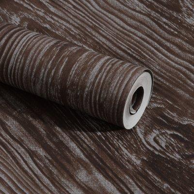 KYKDY Tapeten Supermarkt Vintage Holz texturierten Tapeten wasserdichtem PVC-Wallpaper 3D Kontakt Papier, 3D Wall panels Vinyl Wood Tapete Rollen für Wände, 1014, 53 CM X 10 M -