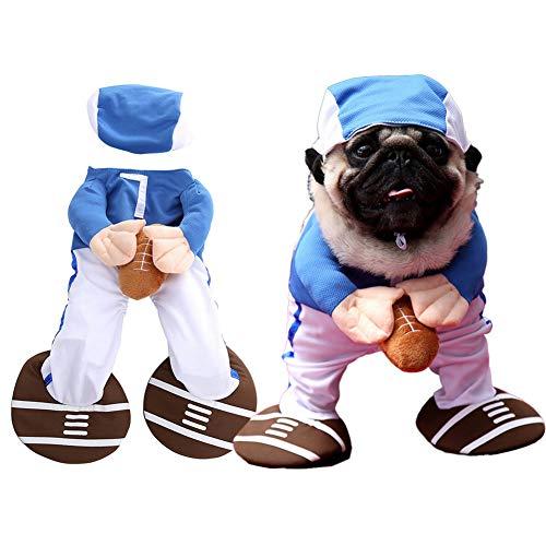Kostüm Hunde Cheerleader - Haustier Hund Katze Halloween Kostüme, Cheerleader Baseballspieler Cosplay-Anzug Party-Bekleidung Kleidung Für Welpenhund Kostüm Kleidung Für Katzen,Baseball,S