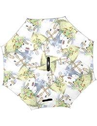 Molino huevo casa pollo familia vida Fantasía hadas doble capa o forma mango Reverse paraguas resistente