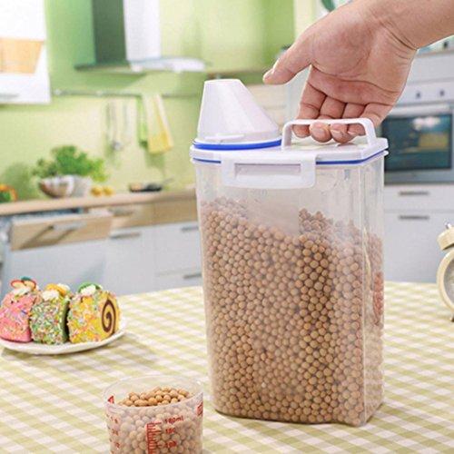 IGEMY Jolie boîte pour céréales, riz, pour la cuisine, 2 L