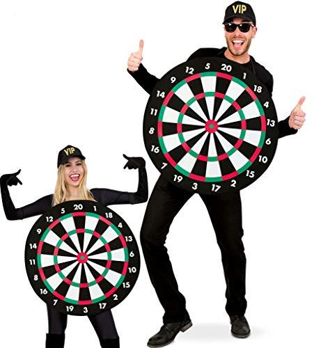 KarnevalsTeufel Kostüm Dartscheibe für Erwachsene | Einheitsgröße, Ø ca. 70cm | Bullseye, Dartboard, Pfeil, Karneval, Junggesellenabschied, Mottoparty (Bullseye Kostüm)