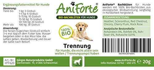 AniForte Bio-Bachblüten Trennung 20 g – Naturprodukt für Hunde - 2