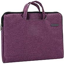 Organizador de documentos de lona portátil A4 bolsa de cremallera Oficina de maletín-Rose