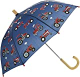Hatley Jungen Regenschirm Printed Umbrella, Blue (Red Farm Tractors), One Size