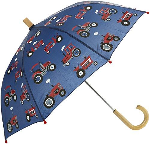 Hatley Jungen Regenschirm Printed Umbrella Blue (Red Farm Tractors) One Size