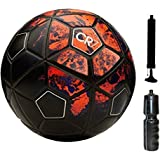 M ART CR-7 Football with Pump, Sipper Combo (Red, 5)