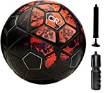 #10: M ART CR-7 Football with Pump, Sipper Combo (Red, 5)