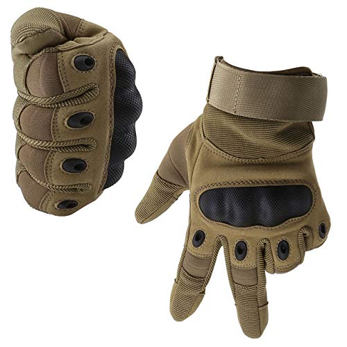 Graceme Handschuhe Motorradhandschuhe für MTB Mountainbike Motorrad Motocross Quad Paintball Airsoft Security Tactical Militär KTM Fahrrad Rad Herren Damen Touchscreen (Voller Finger Sandfarbe, XXL)