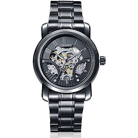 Time100 orologio Analogico Scheletro in Acciaio Uomo#W60041G.02A