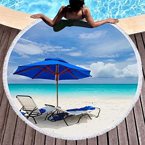 Gesäumten Rand Schal (Kreative Wandteppich Strandtuch, Druck Gesäumten Strandtücher, EIN Kreisförmigen Muster Von Sandwolken, Picknick Im Freien Mahlzeit Pad)
