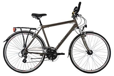KS Cycling Trekkingrad Herren Norfolk 24 Gang Multipositionslenker RH 58 cm Fahrrad, Bronze, 28