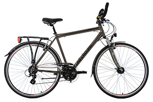 KS Cycling Herren Trekkingrad Norfolk Multipositionslenker RH 53 cm Fahrrad, Bronze, 28