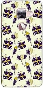 The Racoon Lean printed designer hard back mobile phone case cover for Letv Le 2. (Purple Fir)