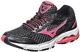 Mizuno Womens Wave Connect 3 Running Shoes, Black (Black/Diva Pink/Silver), 5 UK 38 EU