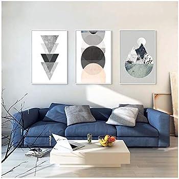 Citation Géométrique Simple Toile Nordique Affiche Murale