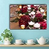 adgkitb canvas Romantische Rose Leinwand Gemälde s Und Drucke Wandkunst Bild Für Wohnzimmer Hochzeitsdekor 30x45 cm KEIN Rahmen