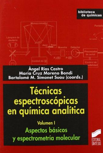 Técnicas espectroscópicas en química analítica: Aspectos básicos y espectrometría molecular: Vol.1