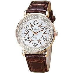 Damen Armband-Uhren, Quarz-Uhren , coffee color