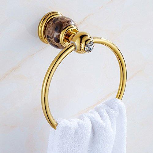 SDKKY Jade Handtuch Ring um den kupferfarbenen Marmor Edelstahl Handtuchring continental Handtuch, Kaffee - igitt