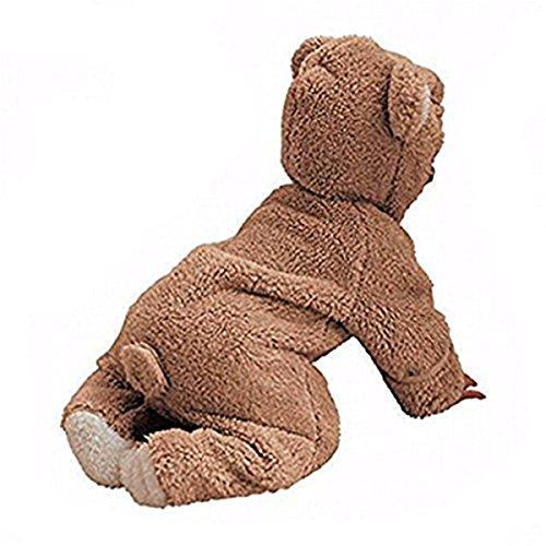 Winter Overalls mit Bär Stil Overall Kapuzen Jumpsuit Kapuzen Kleidung Herbst & Winter (0-3 Monate, Khaki) (Baby Bären Anzug)
