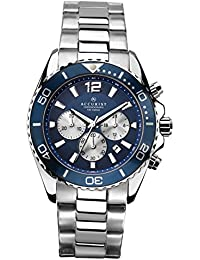 Accurist Men's Quartz Watch with Blue Dial Chronograph Display and Silver Stainless Steel Bracelet 7067.01