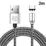 Drehen Sie Runde Geflochtene magnetische USB C Ladekabel USB 3.1 Typ C Ladegerät Kabel für Samsung Galaxy S7 / S8 / S8 + / S9 / S9 + (Nur Aufladen)