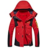 3 in 1 Softshelljacke Herren Wasserdicht Atmungsaktiv Funktionsjacke Warm Doppeljacke Outdoorjacke Damen Winter Skijacke
