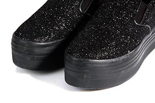 Jeffrey Campbell Play-Slip on Snake Platform Grey-Sneaker-haute semelle Mocassins Imprimé Serpent GRIS Noir - Noir