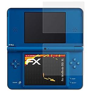 atFoliX Schutzfolie kompatibel mit Nintendo DSi XL Displayschutzfolie, HD-Entspiegelung FX Folie (3er Set)