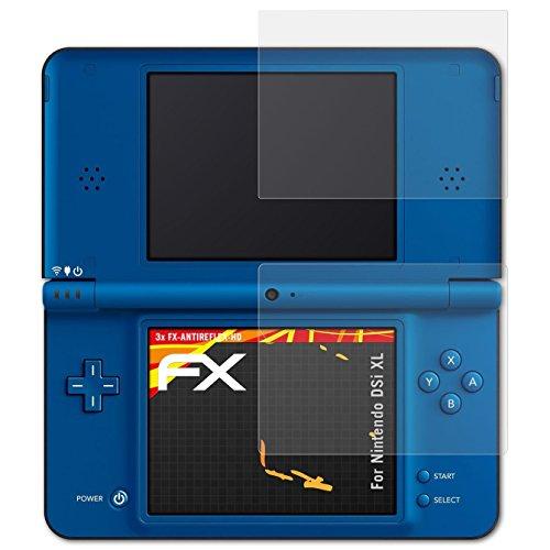 atFoliX Folie für Nintendo DSi XL Displayschutzfolie - 3er Set FX-Antireflex-HD hochauflösende entspiegelnde Schutzfolie