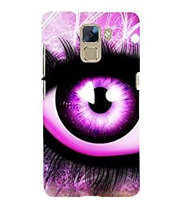 Fuson Premium Back Case Cover Animated eye With yellow Background Degined For Huawei Honor 7