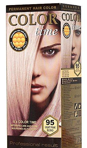 Color Time tinture per capelli permanenti con pappa reale 95 Biondo Rosa Chiaro