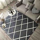 YANLI Moderne Einfache Teppich Schlafzimmer Nacht Wohnzimmer Couchtisch Matte Büro Studie Bodenmatte, 002, 85*185cm