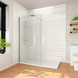ELEGANT 800mm Walk In Shower Enclosure 8mm Easy Clean Glass Wetroom Shower Screen Panel