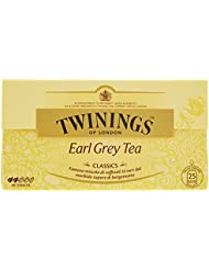 Twinings of London Earl Grey Tea Classics, Tè Neri con Sapore di Bergamotto - 25 Bustine