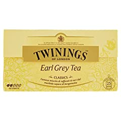 Idea Regalo - Twinings of London Earl Grey Tea Classics, Tè Neri con Sapore di Bergamotto - 25 Bustine